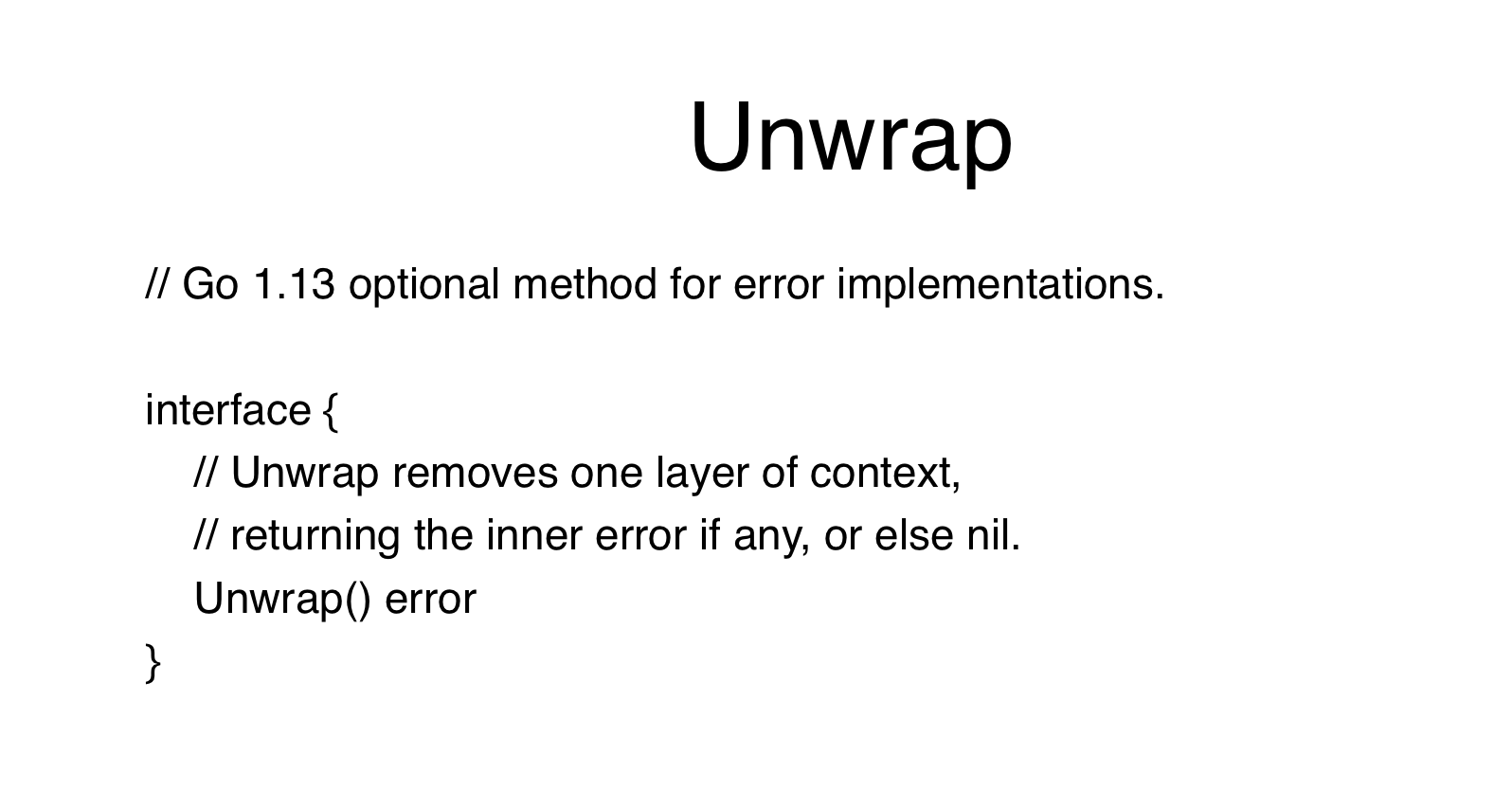 Unwrap Interface