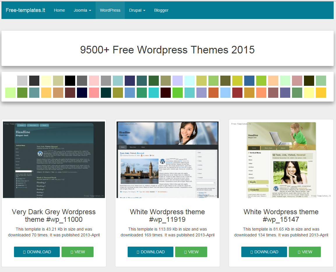 9500+ Free Wordpress Themes 2015