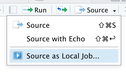 Source script as local job