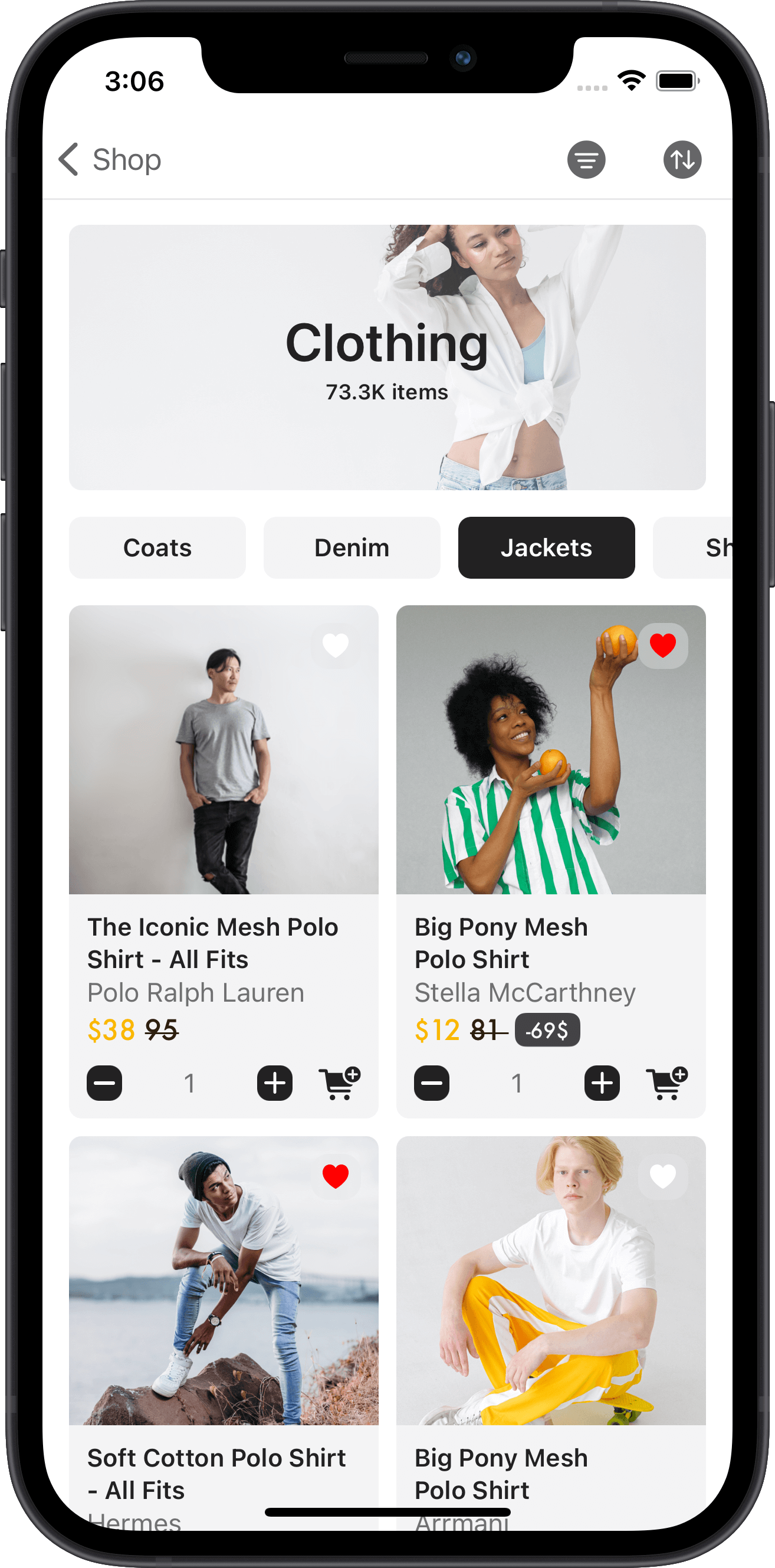 e-commerce, clothing, mesh, polo, men, women