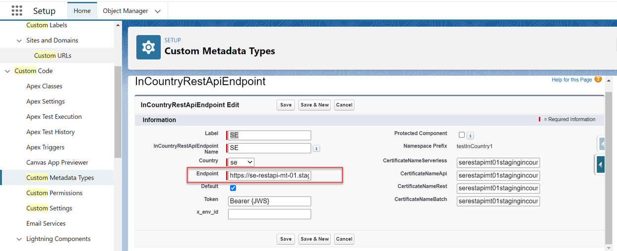 Register a custom metadata type