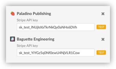 Adding Stripe API keys in CashNotify