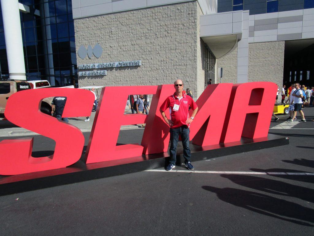 Adam Scheps at the SEMA Car Show