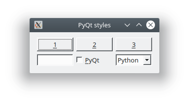 pyqt windows style