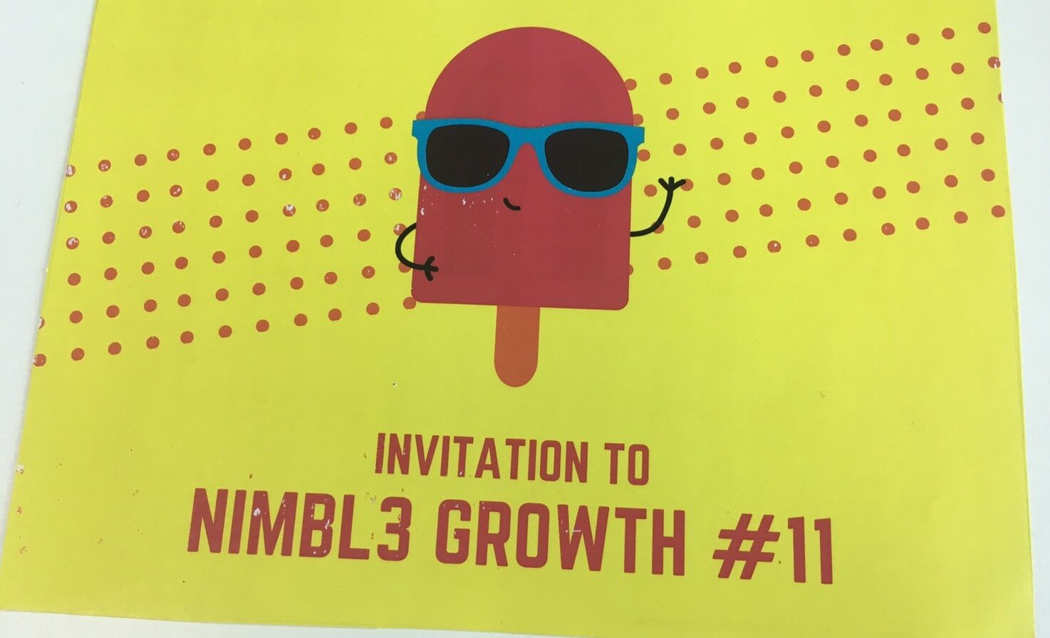 Even if NIMBLE GROWTH #10 was my last one as an intern, I still got the invitation for the next one too 😆