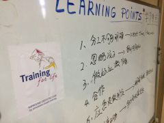 TFL in China: Learning points defined by the trainees. Note that the TFL logo has been adapted for China!