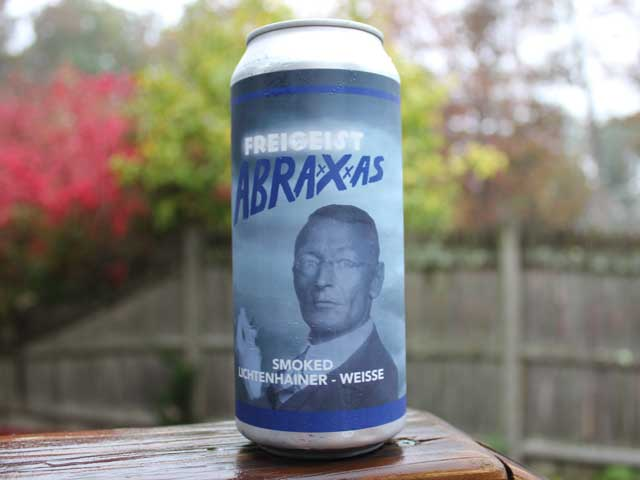 Abraxxxas, a Smoked Lichtenhainer - Weisse brewed by Upland Brewing Company