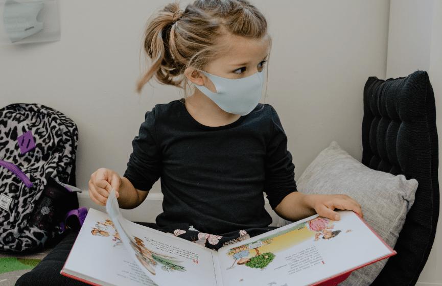 Child reading.