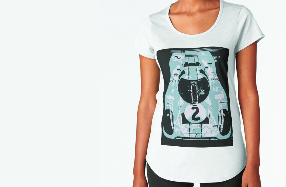 Porsche 917K Premium Scoop T-Shirt by thespeedart
