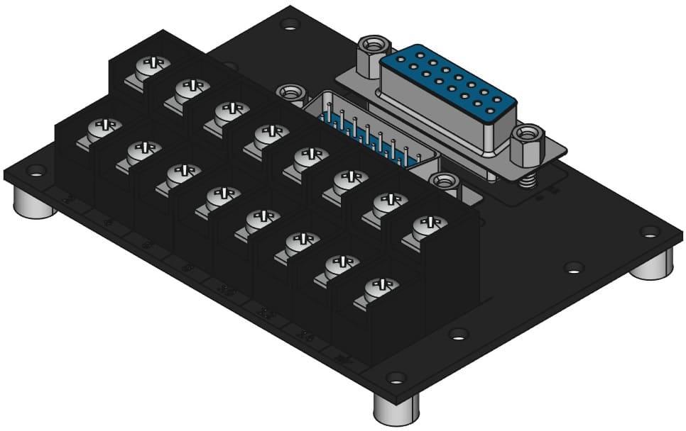 DA15MF-TB2X8をネジ取付けする際の組立完成図
