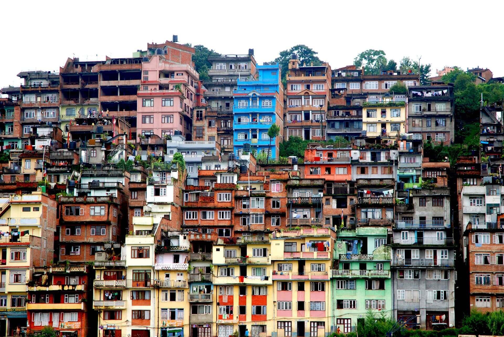 Buildings in Kathmandu Nepal