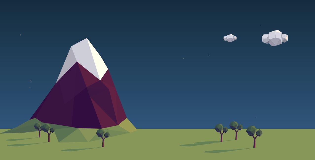 SVG Landscape Animation