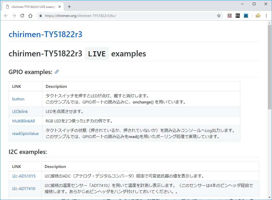LIVE examples