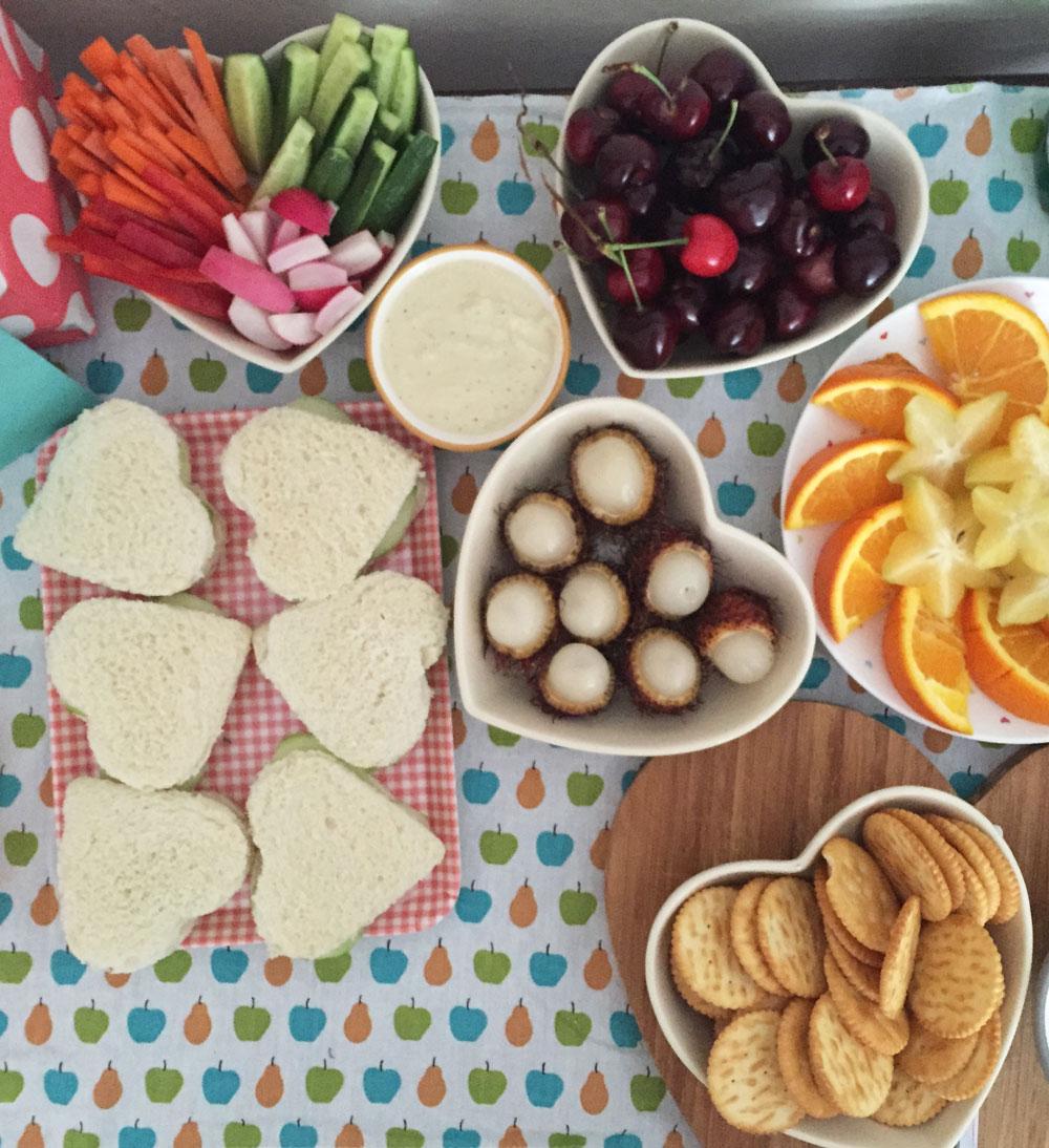 vegan tea party food