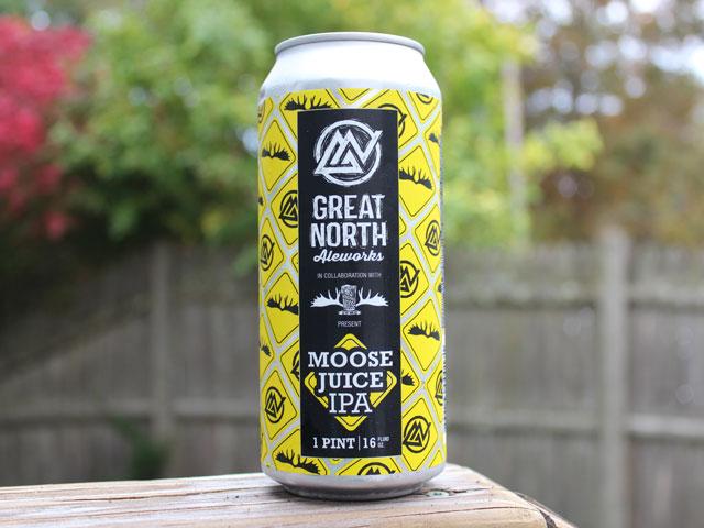 Moose Juice, an IPA brewed by Great North Aleworks