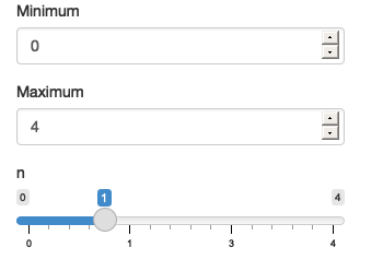 The app on load (left), after increasing max (middle), and then decreasing min (right). See live at <https://hadley.shinyapps.io/ms-update-basics>.
