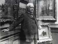 Paul Durand-Ruel in his gallery in 1910. Photograph by Paul Marsan, known as Dornac