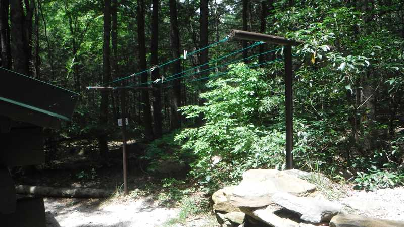 Clothesline at Tumbling Run Shelters