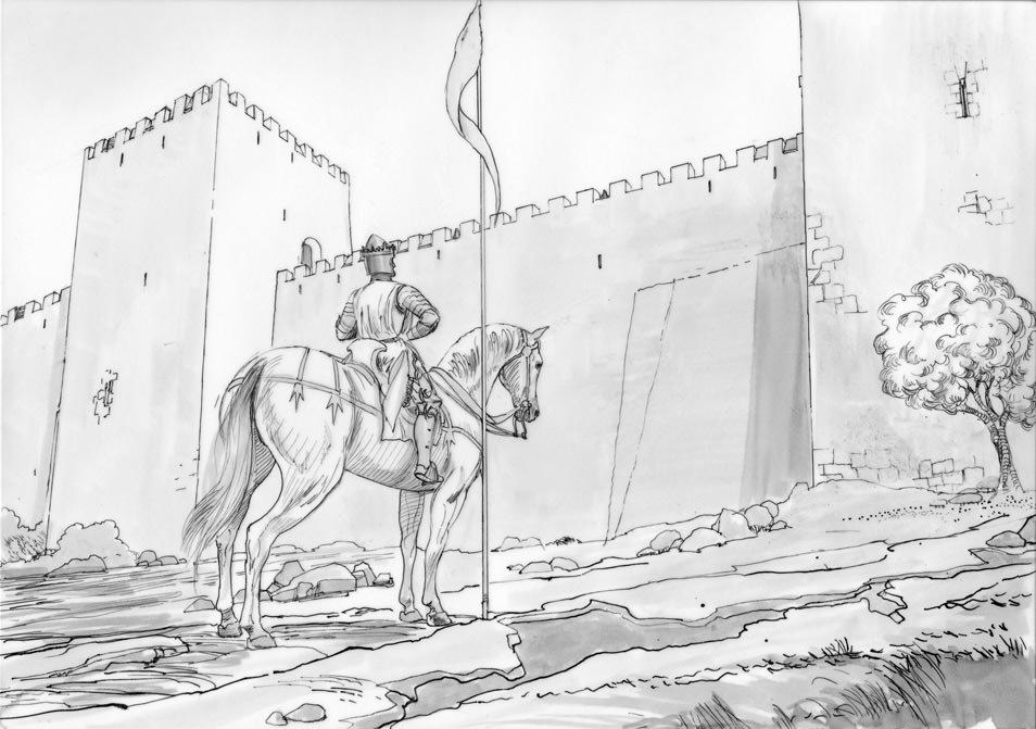 Atoleiros Battle animatic - Juan 1 of Castile facing Lisbon defensive wall