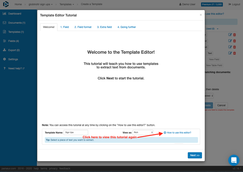 Our new tutorial guides you through the template editor