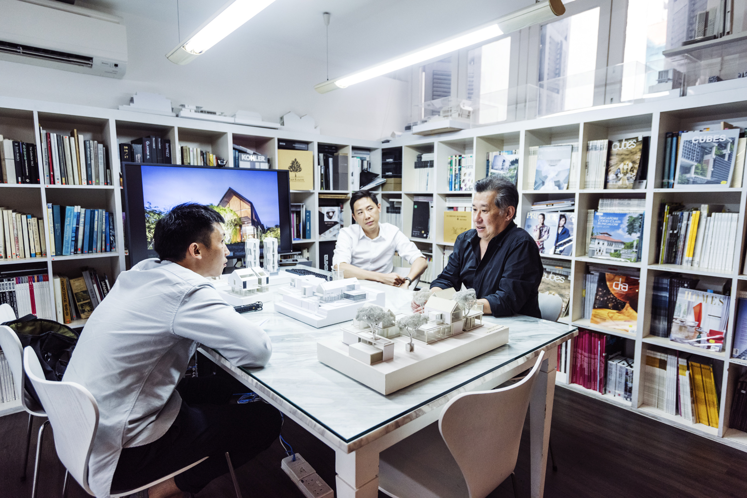 Architects Rene Tan and Jonathan Quek at the interview in their office