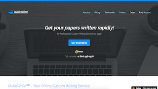 quickwriter.com main page