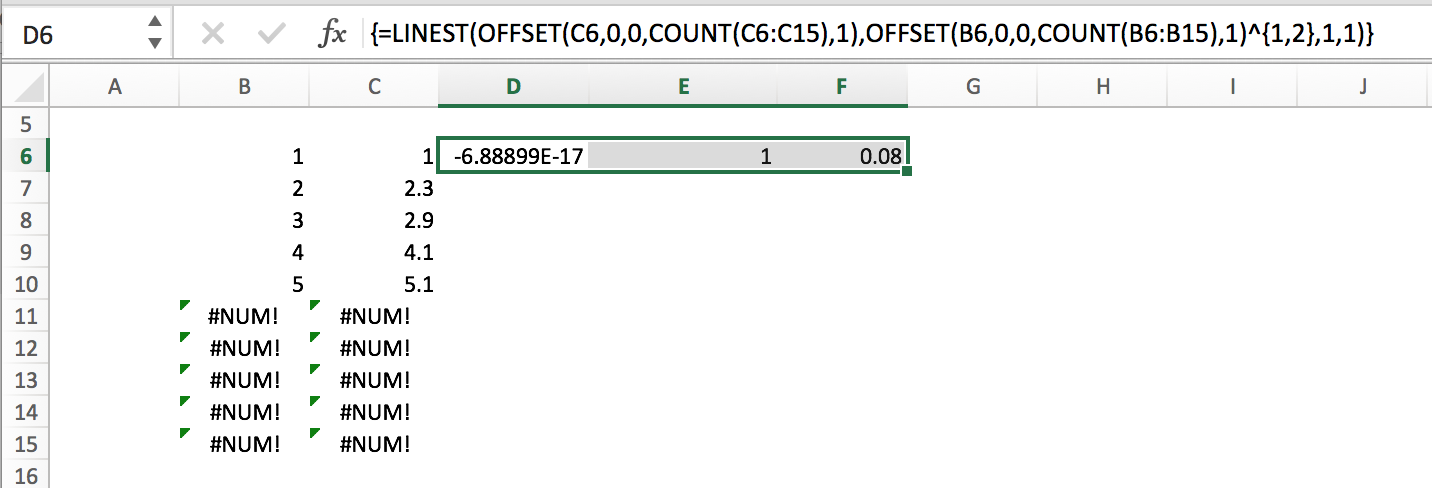 linest-using-offset-count