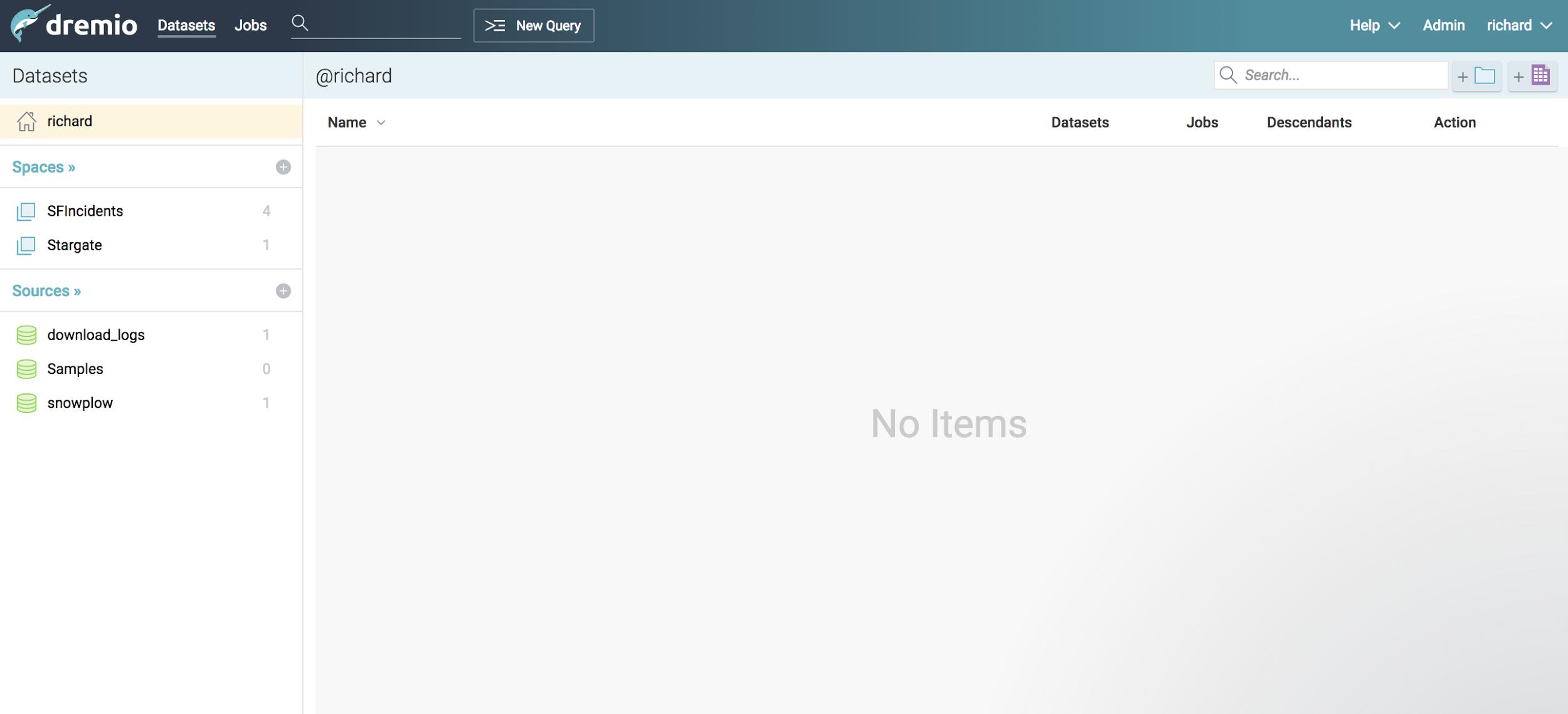 Dremio home page