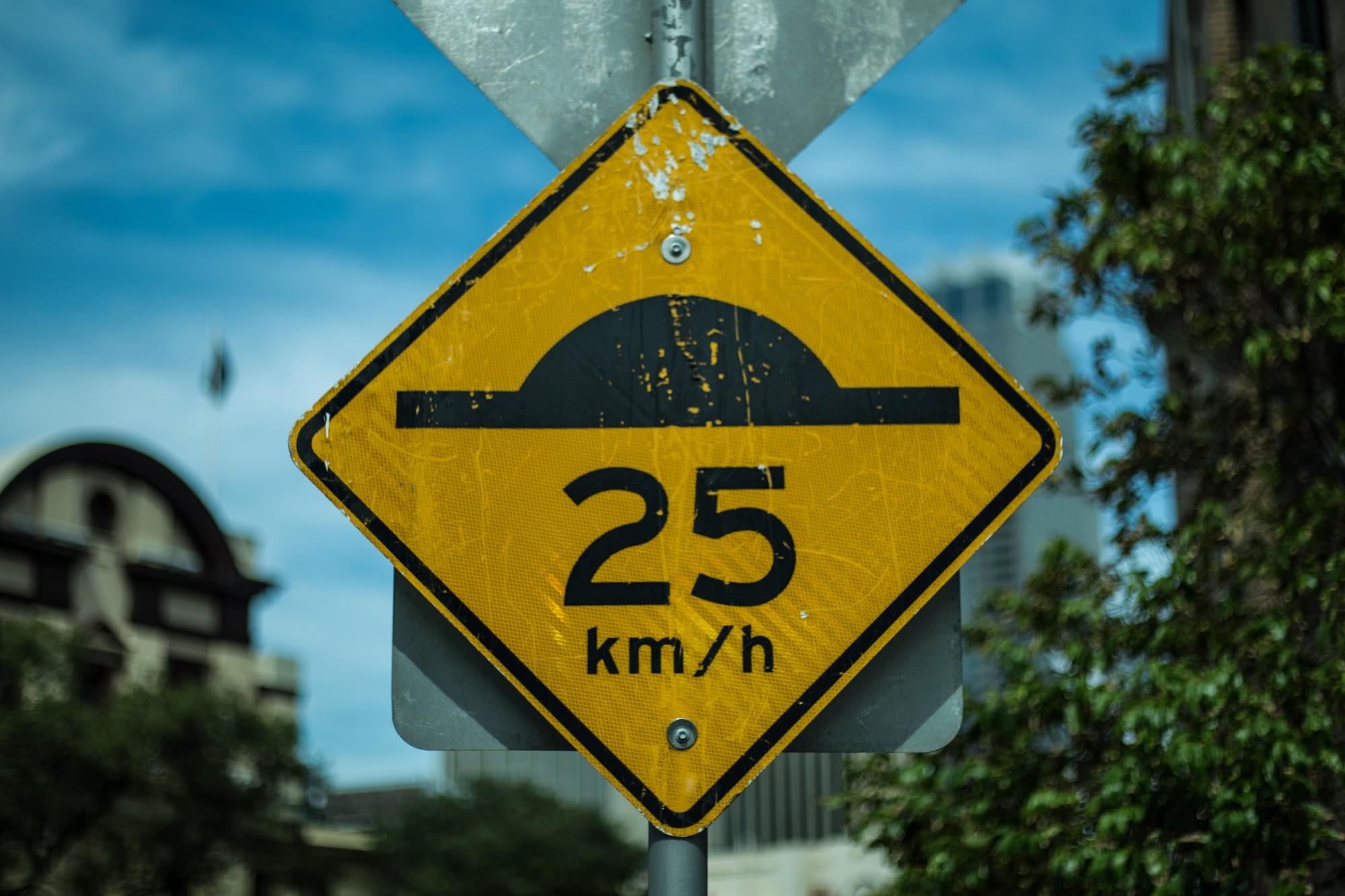 speedbump sign