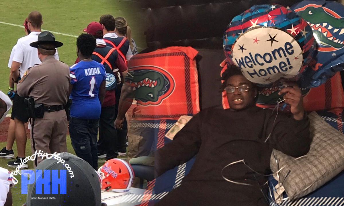 Kodak Black on sidelines of Florida Gators vs Florida State Seminoles November 2018 Football Game