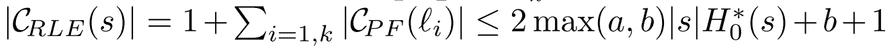 Length of C<sub>RLE</sub>