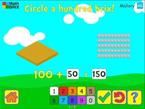 Grouping: Make a 100 by circling Math Game