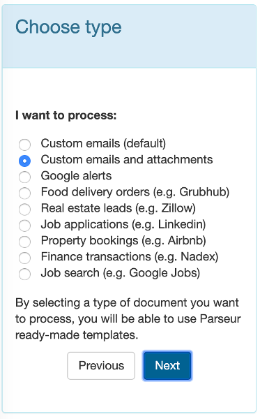 Select emails and attachements