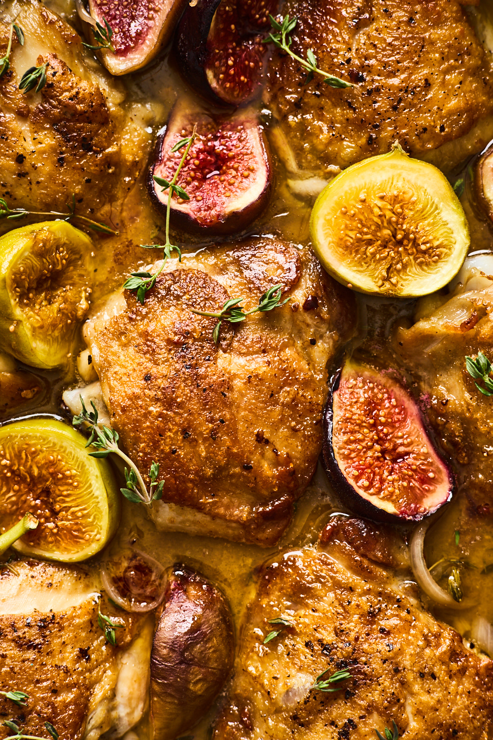 Skillet Balsamic Chicken With California Figs