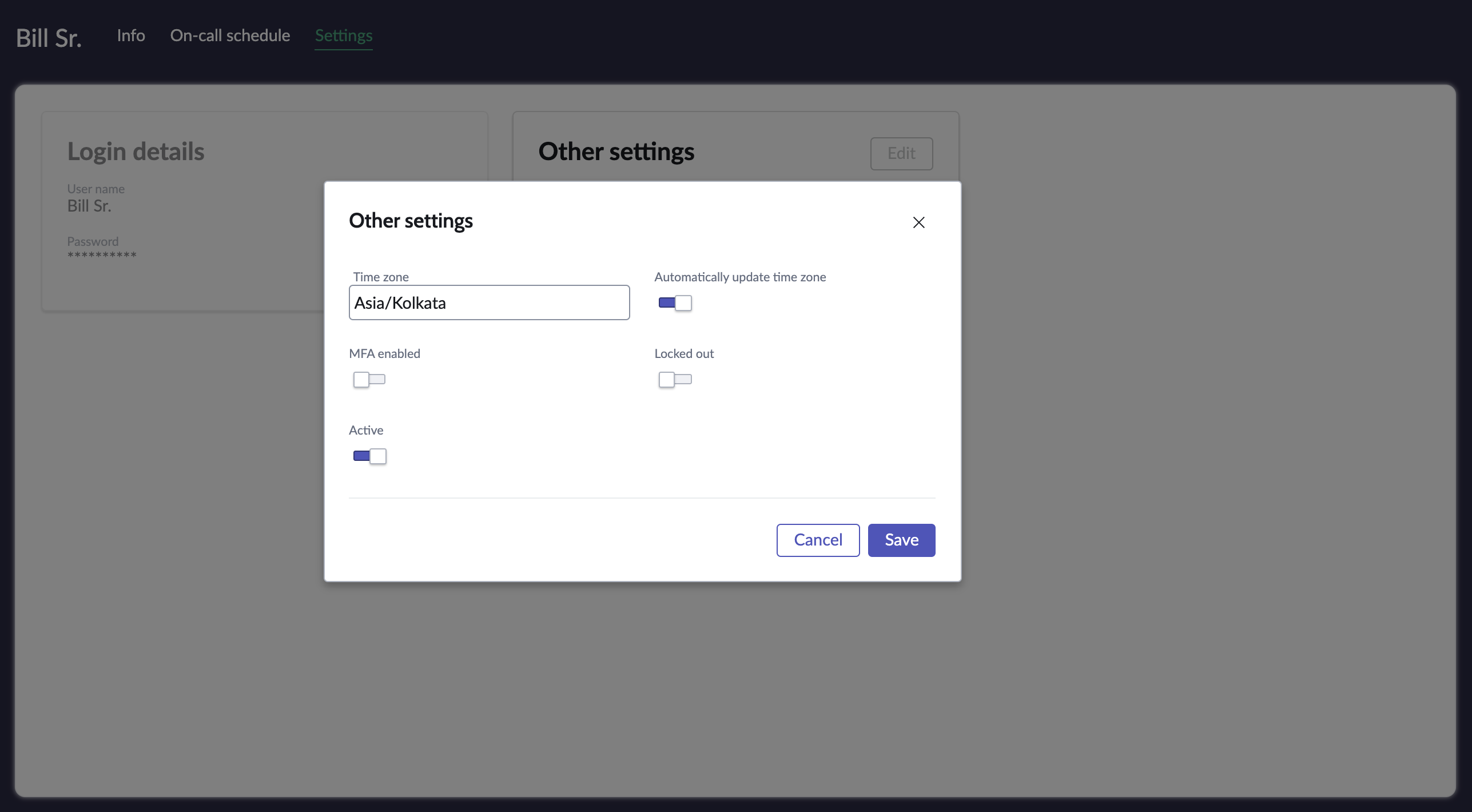 Disable the locked out field using slider control.