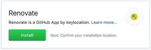 Github App Install button