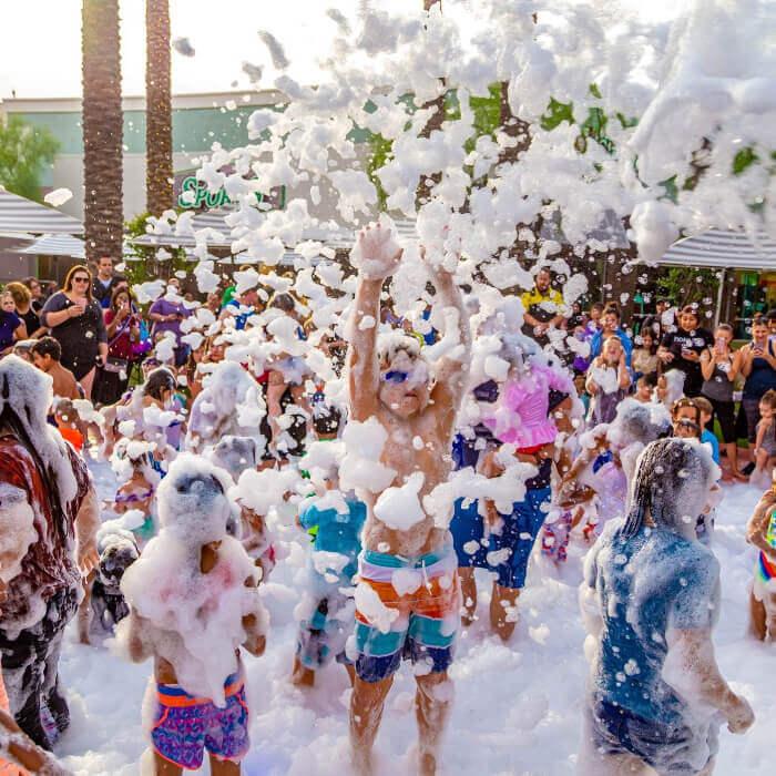 Foam birthday party.