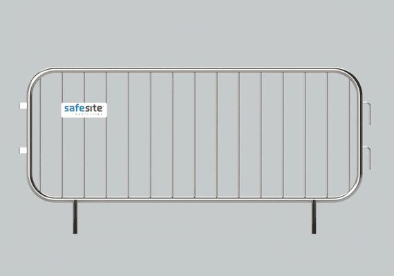 2.3m metal pedestrian barrier front