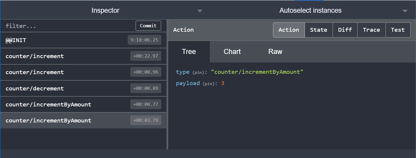 Redux DevTools: done clicking buttons