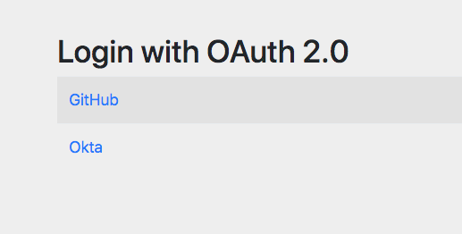 OAuth Selection