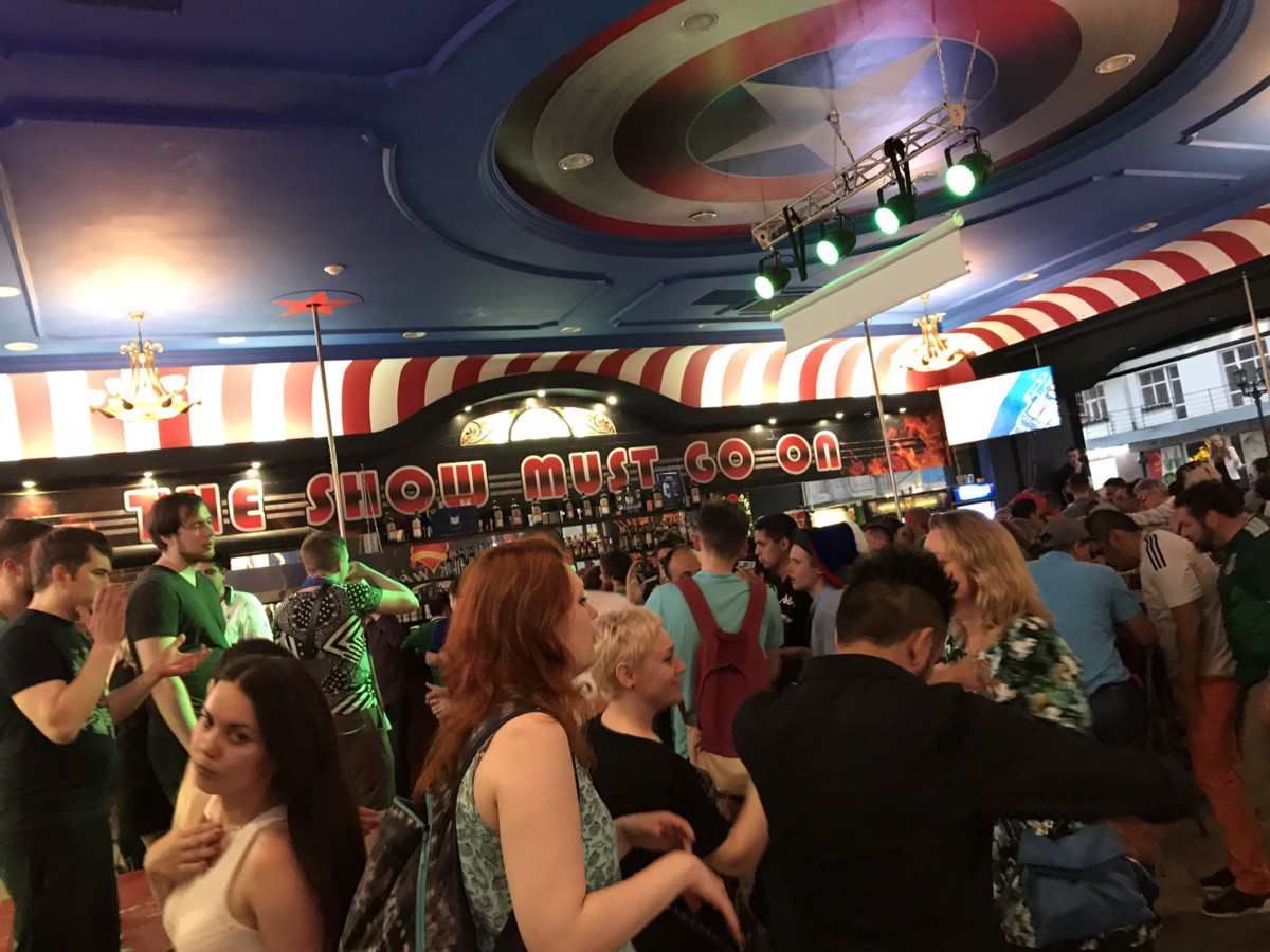 Inside the bar Amerikanka.
