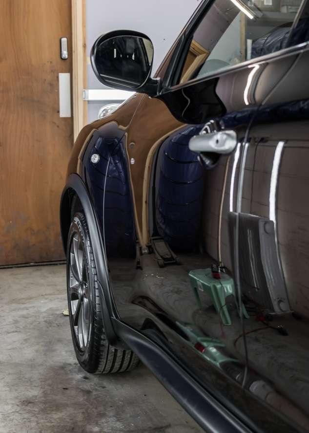 Nissan Juke car after polishing
