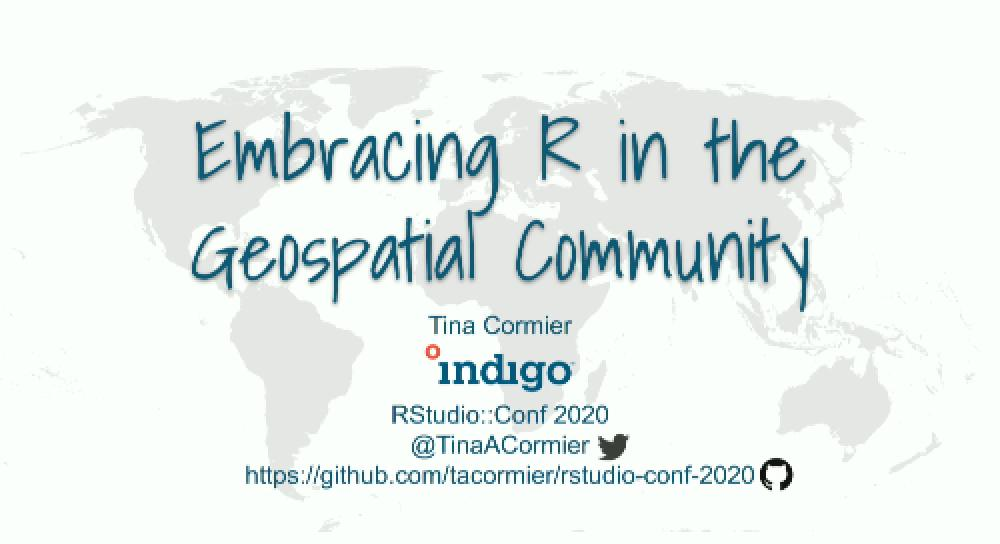 Embracing R in the Geospatial Community