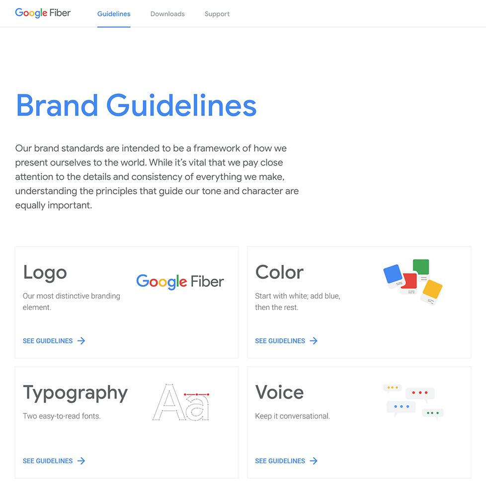 Google Fiber Brand desktop