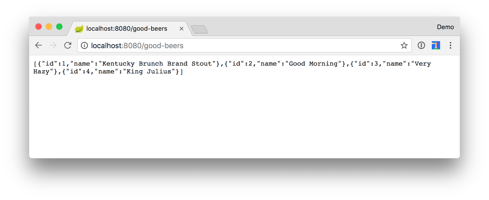 Good Beers JSON