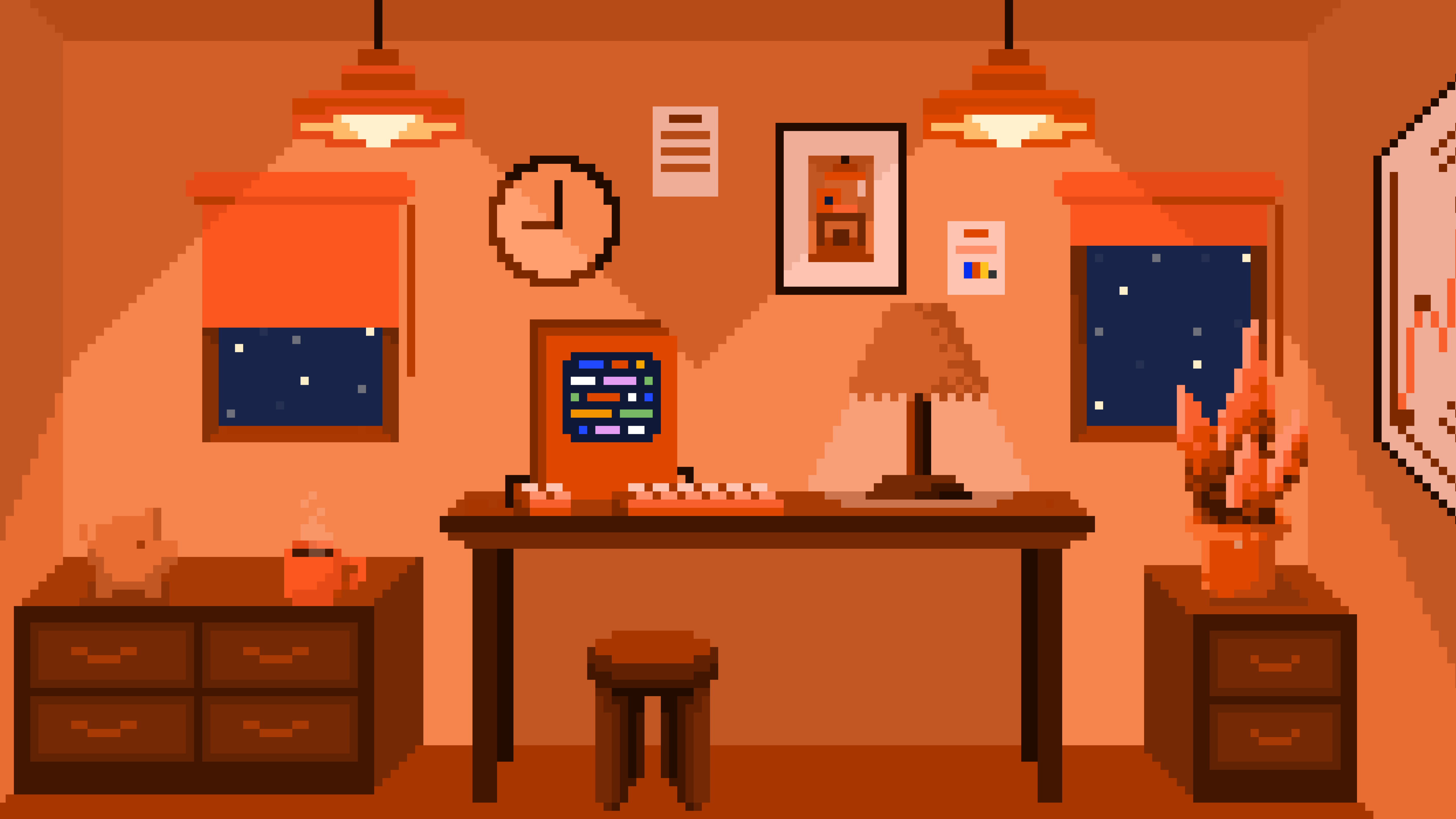 PostHog Background - office