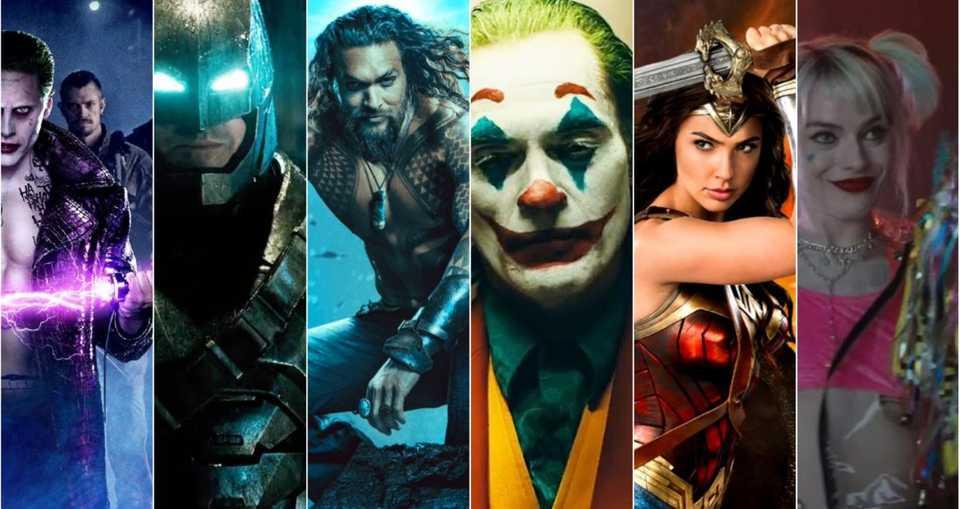 Suicide Squad, Batman, Aquaman, Joker, Wonder Woman and Harley Quinn