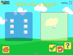 Compare sets of objects up to 5 Math Game