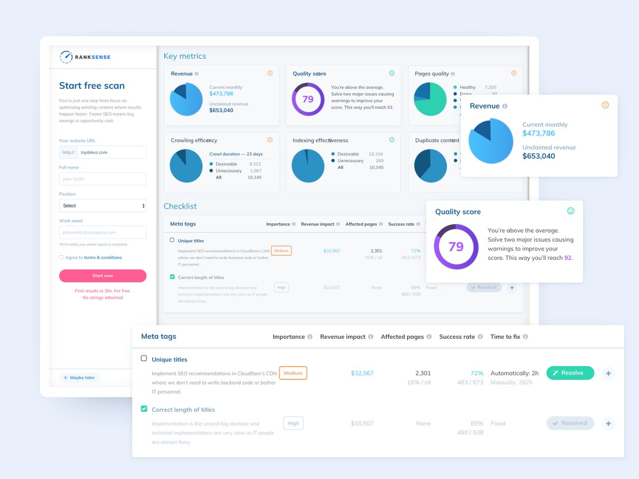 Prototyping - UX Design   RankSense