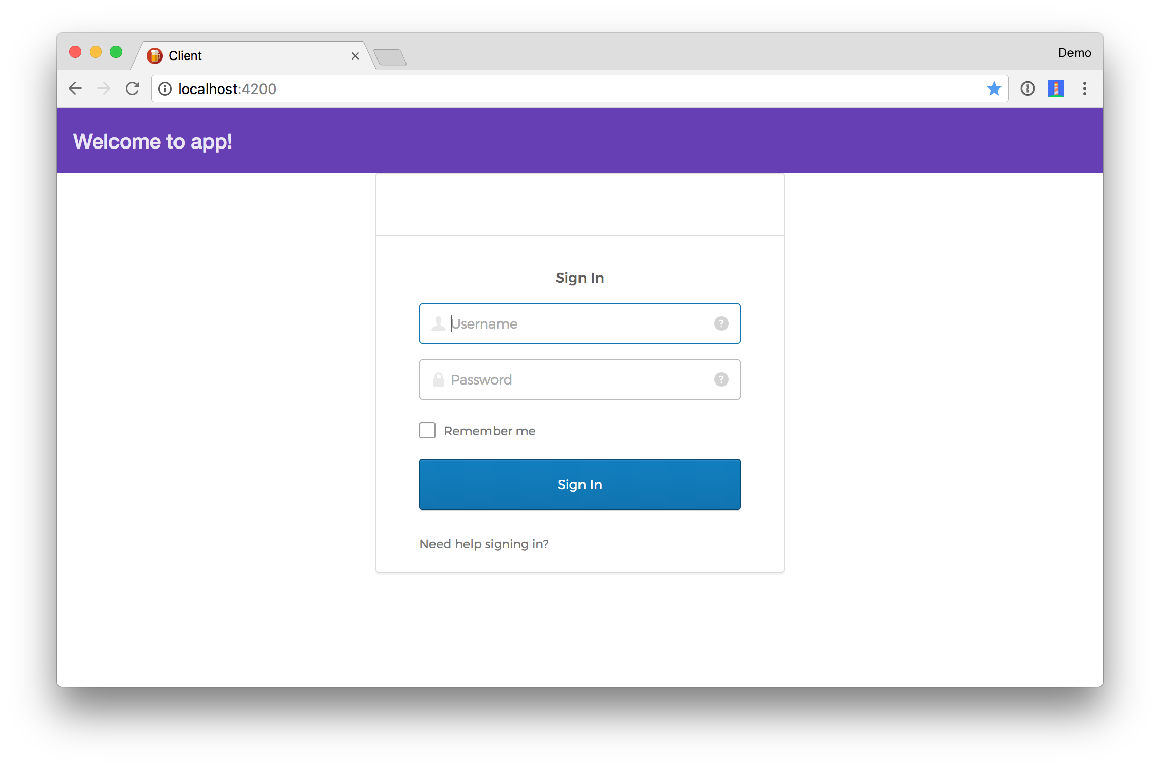 Angular Login